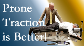Sandy Springs spinal traction applied lying face down – prone – is best according to the latest research. Visit Cross Chiropractic Center.