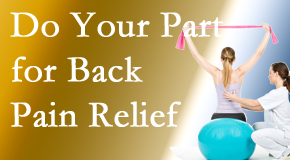 Cross Chiropractic Center calls on back pain sufferers to participate in their own back pain relief recovery.