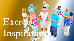 Cross Chiropractic Center hopes to inspire exercise for back pain relief by listening carefully and encouraging patients to exercise with others.