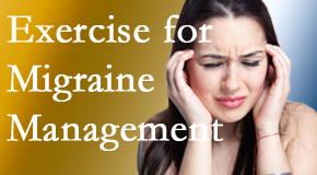 Cross Chiropractic Center includes exercise into the chiropractic treatment plan for migraine relief.