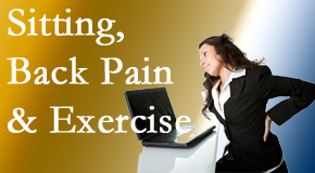 Cross Chiropractic Center urges less sitting and more exercising to combat back pain and other pain issues.