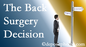 Sandy Springs back surgery for a disc herniation is an option to be carefully studied before a decision is made to proceed.