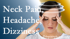 Cross Chiropractic Center helps relieve neck pain and dizziness and related neck muscle issues.