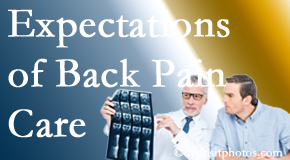 The pain relief expectations of Sandy Springs back pain patients influence their satisfaction with chiropractic care. What is realistic?