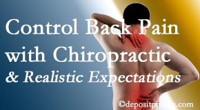 Cross Chiropractic Center helps patients set realistic goals and find some control of their back pain and neck pain so it doesn't necessarily control them.