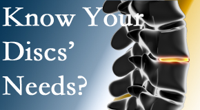 Your Sandy Springs chiropractor knows all about spinal discs and what they need nutritionally. Do you?