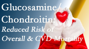Cross Chiropractic Center shares new research supporting the habitual use of chondroitin and glucosamine which is shown to reduce overall and cardiovascular disease mortality.