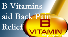 Cross Chiropractic Center may include B vitamins in the Sandy Springs chiropractic treatment plan of back pain sufferers.