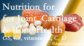 Cross Chiropractic Center describes the benefits of vitamins A, C, and D as well as glucosamine and chondroitin sulfate for cartilage, joint and bone health.
