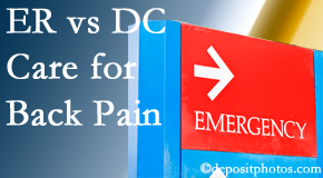 Cross Chiropractic Center invites Sandy Springs back pain patients to the clinic instead of the emergency room for pain meds whenever possible.