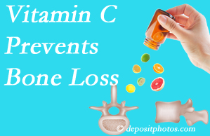 Cross Chiropractic Center may recommend vitamin C to patients at risk of bone loss as it helps prevent bone loss.