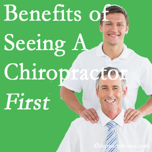 Getting Sandy Springs chiropractic care at Cross Chiropractic Center first may reduce the odds of back surgery need and depression.