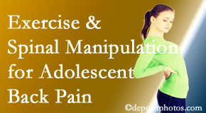 Cross Chiropractic Center uses Sandy Springs chiropractic and exercise to help back pain in adolescents.