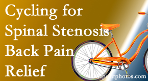 Cross Chiropractic Center encourages exercise like cycling for back pain relief from lumbar spine stenosis.