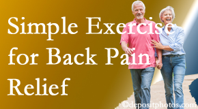 Cross Chiropractic Center encourages simple exercise as part of the Sandy Springs chiropractic back pain relief plan.