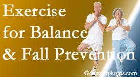Sandy Springs chiropractic care of balance for fall prevention involves stabilizing and proprioceptive exercise.
