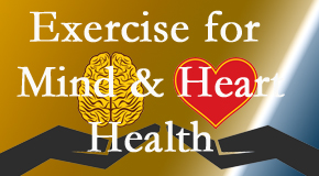 A healthy heart helps maintain a healthy mind, so Cross Chiropractic Center encourages exercise.