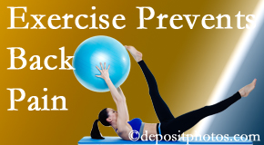Cross Chiropractic Center suggests Sandy Springs back pain prevention with exercise.