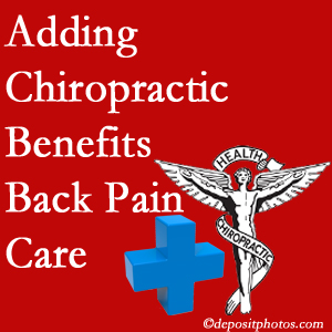 Added Sandy Springs chiropractic to back pain care plans helps back pain sufferers.