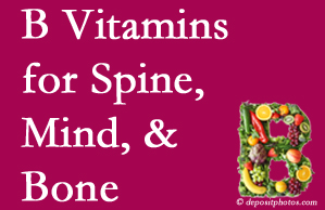 Sandy Springs bone, spine and mind benefit from B vitamin intake and exercise.