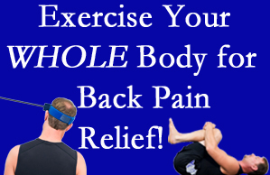 Sandy Springs chiropractic care includes exercise to help enhance back pain relief at Cross Chiropractic Center.