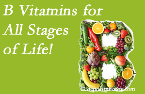Cross Chiropractic Center suggests a check of your B vitamin status for overall health throughout life.