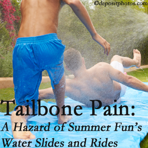 Cross Chiropractic Center uses chiropractic manipulation to ease tailbone pain after a Sandy Springs water ride or water slide injury to the coccyx.