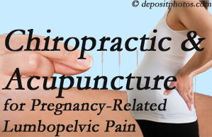 Sandy Springs chiropractic and acupuncture may help pregnancy-related back pain and lumbopelvic pain.
