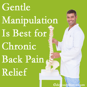 Gentle Sandy Springs chiropractic treatment of chronic low back pain is superior.