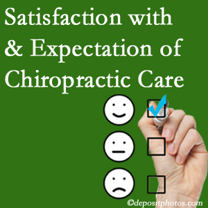 Sandy Springs chiropractic care provides patient satisfaction and meets patient expectations of pain relief.