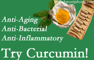 Pain-relieving curcumin may be a good addition to the Sandy Springs chiropractic treatment plan.