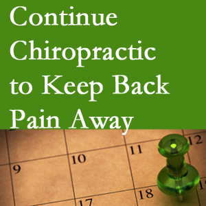 Continued Sandy Springs chiropractic care helps keep back pain away.