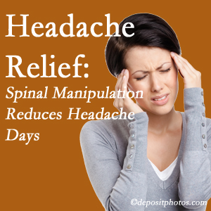 Sandy Springs chiropractic care at Cross Chiropractic Center may reduce headache days each month.