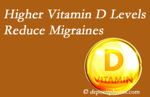 Cross Chiropractic Center shares a new report that higher Vitamin D levels may reduce migraine headache incidence.